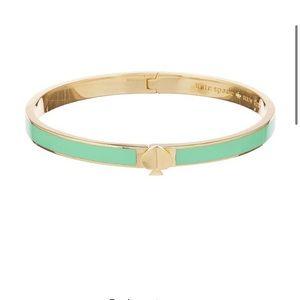 Kate spade heritage bangle gold/mint